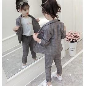 スーツ スーツセット 女の子 長袖 長ズボン 上下セット キッズ ジュニア フォーマルスーツ 子供服 入学式