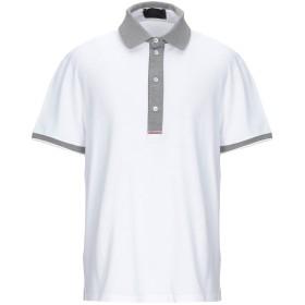《セール開催中》LES COPAINS メンズ ポロシャツ ホワイト 56 コットン 100%