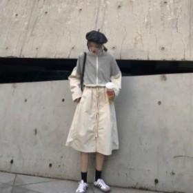 ロングワンピース 春新作 大きいサイズ 韓国 ファッション レディース ワンピース ロングワンピース ロングワンピ 春新作 スポーティ