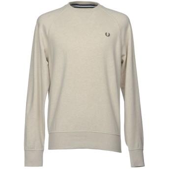 《9/20まで! 限定セール開催中》FRED PERRY メンズ スウェットシャツ ライトグレー XL コットン 100%