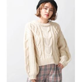 ニット・セーター - WEGO【WOMEN】 ロービングケーブルニット BR18WN10-L004