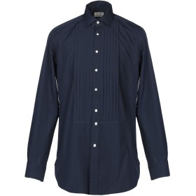 《期間限定 セール開催中》BAGUTTA メンズ シャツ ダークブルー 2 コットン 100%