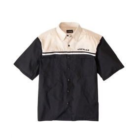 AIR WALK(エアウォーク)ヨーク配色切替半袖カジュアルシャツ 大きいサイズメンズ カジュアルシャツ