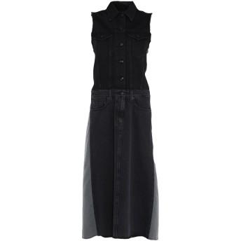 《期間限定セール開催中!》MM6 MAISON MARGIELA レディース 7分丈ワンピース・ドレス ブラック 36 コットン 100%