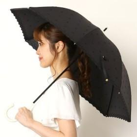ウィズ(WIZ)/【UV日傘・長傘・TC素材・リボン柄・刺繍】TCリボン刺繍日傘