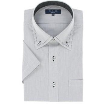 【TAKA-Q:トップス】形態安定吸水速乾スリムフィット ボタンダウン半袖ビジネスドレスシャツ