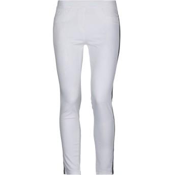 《セール開催中》BLUE LES COPAINS レディース パンツ ホワイト 38 コットン 98% / ポリウレタン 2% / ポリエステル