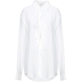 《期間限定 セール開催中》SAINT LAURENT レディース シャツ ホワイト 40 シルク 100%