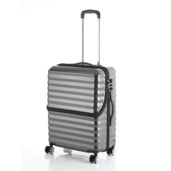 【40%OFF】フロントオープンキャリーM56.5L スーツケース ブラック m