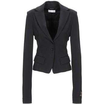 《セール開催中》PATRIZIA PEPE レディース テーラードジャケット ブラック 40 レーヨン 66% / ナイロン 30% / ポリウレタン 4%