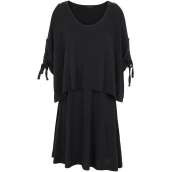 《セール開催中》ALLSAINTS レディース ミニワンピース&ドレス ブラック XS コットン 100% HARPER TEE DRESS