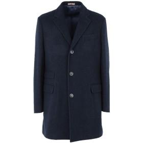 《期間限定 セール開催中》FRADI メンズ コート ブルー 52 コットン 55% / バージンウール 45%