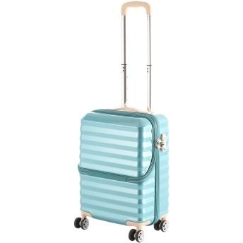 【40%OFF】フロントオープンキャリーS34L スーツケース ブルー s