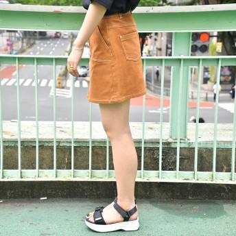 ミニスカート - AVOUT ME BYV 【BYV】ステッチ台形スカート
