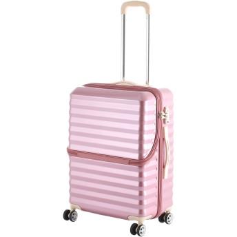 【40%OFF】フロントオープンキャリーM56.5L スーツケース ピーチ m