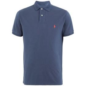 《期間限定セール開催中!》POLO RALPH LAUREN メンズ ポロシャツ ブルー S コットン 100% CUSTOM SLIM FIT MESH POLO