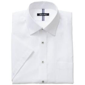 【メンズ】 形態安定デザインYシャツ(半袖) - セシール ■カラー:ホワイト・ドビー ■サイズ:LL,5L,4L,M,L,3L