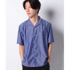【50%OFF】 コエ バンブーレーヨンオープンカラーシャツ メンズ ネイビー L 【koe】 【セール開催中】