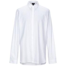 《期間限定セール開催中!》JUST CAVALLI メンズ シャツ ホワイト 46 コットン 100%