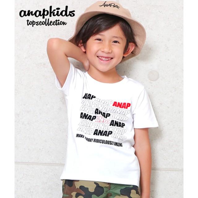 ANAP KIDS アナップキッズ ポイントカラーANAPロゴTシャツ