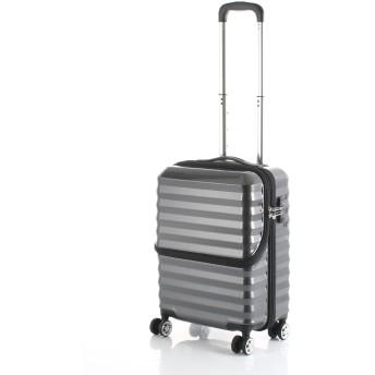 【40%OFF】フロントオープンキャリーS34L スーツケース ブラック s