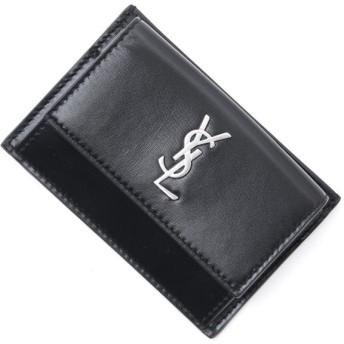 サンローランパリ SAINT LAURENT PARIS カードケース MONOGRAM モノグラム ブラック メンズ 556391-0sx0e-1000