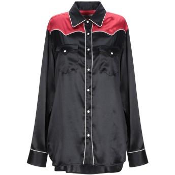 《9/20まで! 限定セール開催中》L.A L.A TEX RANCH WEAR レディース シャツ ブラック III シルク 91% / ポリウレタン 9%
