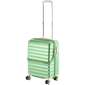 【40%OFF】フロントオープンキャリーS34L スーツケース グリーン s