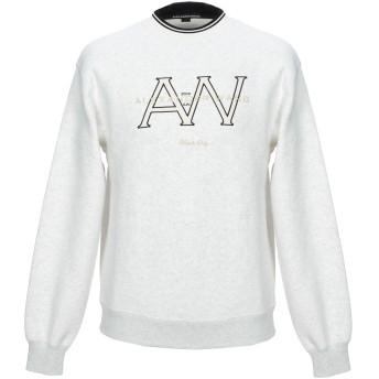 《期間限定セール開催中!》ALEXANDER WANG メンズ スウェットシャツ ライトグレー XS コットン 100% / ポリウレタン