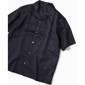 シップス SC: リラックスシルエット ラミー オープンカラーシャツ メンズ ネイビー LARGE 【SHIPS】