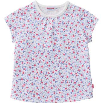 ミキハウス 【アウトレット】小花柄半袖Tシャツ 白