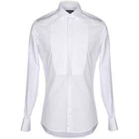 《セール開催中》DSQUARED2 メンズ シャツ ホワイト 52 コットン 100%