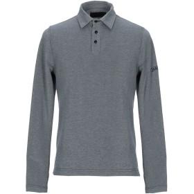 《期間限定セール開催中!》LES COPAINS メンズ ポロシャツ ブルーグレー 48 コットン 100%