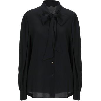 《セール開催中》CARLA G. レディース シャツ ブラック 44 アセテート 68% / シルク 32%