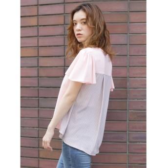【31%OFF】 ダズリン バックフレアTシャツ レディース ピンク F 【dazzlin】 【セール開催中】
