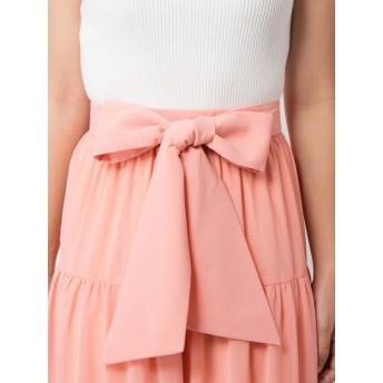 ロングスカート - CECIL McBEE ティアードレイヤードスカート/セシルマクビーオリジナル リボン ロングスカート 切り替え