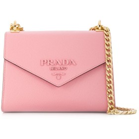 Prada モノクローム ショルダーバッグ - ピンク
