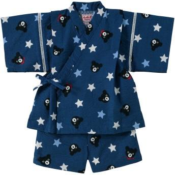 ミキハウス 【アウトレット】Bくんの星柄甚平スーツ 紺