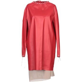 《セール開催中》VALENTINO レディース ミニワンピース&ドレス レッド 40 羊革(ラムスキン) 100%