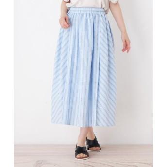 ロングスカート - Cutie Blonde バイヤス切り替えストライプスカート