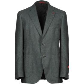 《期間限定セール開催中!》ISAIA メンズ テーラードジャケット グリーン 50 カシミヤ 100%