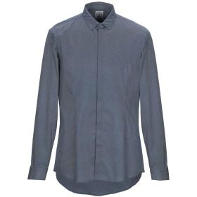 《期間限定 セール開催中》DANIELE ALESSANDRINI HOMME メンズ シャツ ブルー 41 コットン 97% / ポリウレタン 3%