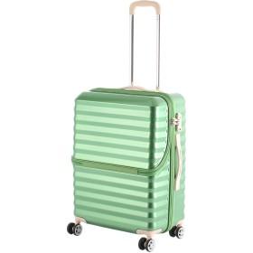 【40%OFF】フロントオープンキャリーM56.5L スーツケース グリーン m