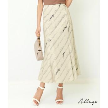 【セール開催中】ANAP(アナップ)バイアスロゴプリントマーメイドスカート