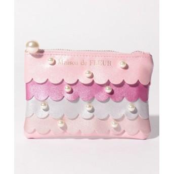 (Maison de FLEUR/メゾンドフルール)マーメイドカードケース/レディース ピンク