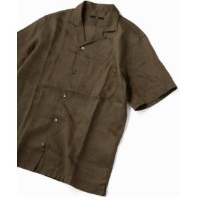 シップス SC: リラックスシルエット ラミー オープンカラーシャツ メンズ オリーブ MEDIUM 【SHIPS】