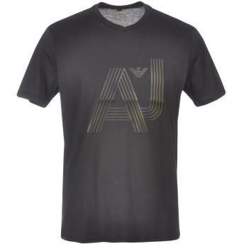 《期間限定セール開催中!》ARMANI JEANS メンズ T シャツ ブラック L コットン 100%