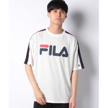 【33%OFF】 ウィゴー WEGO/FILA別注パイピング切替Tシャツ ユニセックス ホワイト L 【WEGO】 【タイムセール開催中】