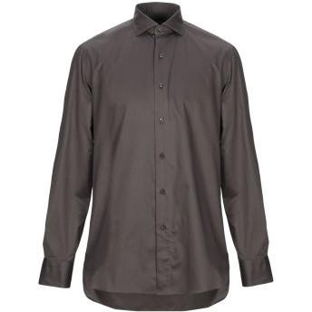 《期間限定セール開催中!》BOGLIOLI メンズ シャツ カーキ 39 コットン 100%