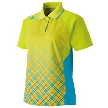 MIZUNO SHOP [ミズノ公式オンラインショップ] ゲームシャツ(ラケットスポーツ)[レディース] 37 ライムグリーン 62JA6312